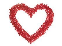 Corazón de la viruta del caramelo Imágenes de archivo libres de regalías