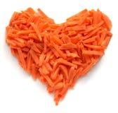 Corazón de la zanahoria Foto de archivo libre de regalías