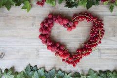 Corazón de las bayas Fotografía de archivo libre de regalías