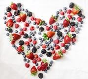 Corazón de las bayas Imagen de archivo libre de regalías