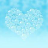 Corazón de las burbujas de jabón foto de archivo