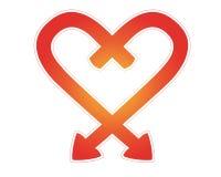 Corazón de las flechas Imagen de archivo