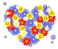 Corazón de las flores. Fotos de archivo libres de regalías