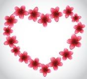 Corazón de las flores Fotografía de archivo