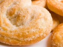 Corazón de las galletas Fotografía de archivo libre de regalías