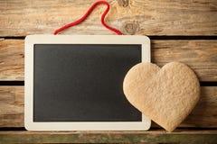 Corazón de las galletas. imagen de archivo libre de regalías
