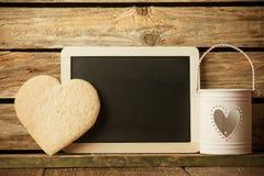 Corazón de las galletas. fotos de archivo