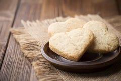 Corazón de las galletas. foto de archivo libre de regalías