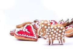 Corazón de las galletas del pan de jengibre Imagen de archivo