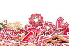 Corazón de las galletas del pan de jengibre Imágenes de archivo libres de regalías