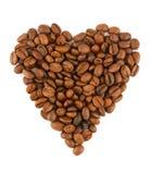Corazón de las habas de Coffe foto de archivo libre de regalías