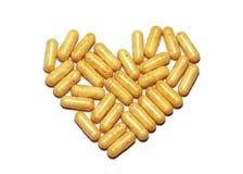 Corazón de las píldoras Foto de archivo libre de regalías