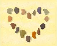 Corazón de las piedras en la arena libre illustration
