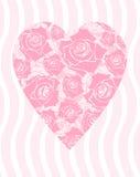 Corazón de las rosas Imagenes de archivo