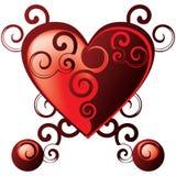 Corazón de las tarjetas del día de San Valentín libre illustration