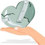 Corazón de las tarjetas del día de San Valentín Imagenes de archivo