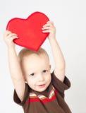 Corazón de las tarjetas del día de San Valentín Fotos de archivo libres de regalías