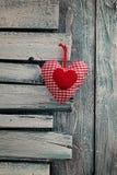 Corazón de las tarjetas del día de San Valentín Imágenes de archivo libres de regalías