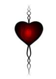 Corazón de las tarjetas del día de San Valentín Fotografía de archivo