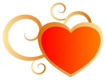 Corazón de las tarjetas del día de San Valentín Foto de archivo libre de regalías