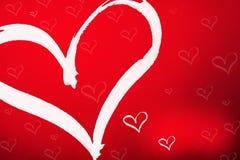 Corazón de las tarjetas del día de San Valentín Fotografía de archivo libre de regalías