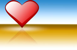 Corazón de las tarjetas del día de San Valentín Foto de archivo
