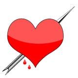 Corazón de las tarjetas del día de San Valentín Imagen de archivo