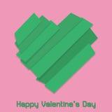 Corazón de las tiras de color para el día de tarjeta del día de San Valentín feliz Imagen de archivo libre de regalías