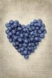 Corazón de las zarzamoras Imagen de archivo libre de regalías