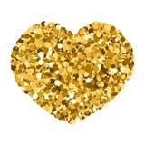 Corazón de lentejuelas lentejuelas, ejemplo del vector, el tema del romance, el día de tarjeta del día de San Valentín, corazón d stock de ilustración