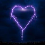 Corazón de Ligthning Fotografía de archivo libre de regalías