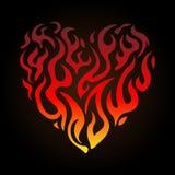 Corazón de llamas Imagen de archivo