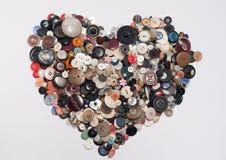 Corazón de los botones imagen de archivo libre de regalías