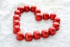 Corazón de los caramelos Imagen de archivo