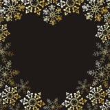 Corazón de los copos de nieve Fotos de archivo