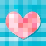 Corazón de los cuadrados Imagen de archivo libre de regalías