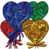 Corazón de los elementos de la flor Imagen de archivo