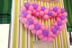 Corazón de los globos Foto de archivo libre de regalías