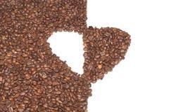 Corazón de los granos de café. imágenes de archivo libres de regalías