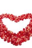 Corazón de los granos de la granada Imagen de archivo libre de regalías