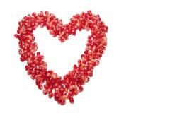 Corazón de los granos de la granada Fotografía de archivo