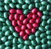 Corazón de los huevos de Pascua Foto de archivo libre de regalías