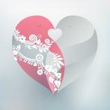 Corazón de los pájaros del amor Foto de archivo