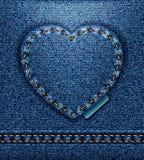 Corazón de los pantalones vaqueros   Fotografía de archivo libre de regalías