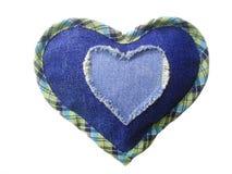 Corazón de los pantalones vaqueros. Imagenes de archivo