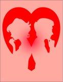 Corazón de los pares Fotografía de archivo libre de regalías