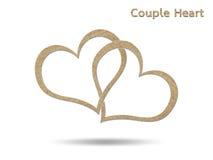 Corazón de los pares Imagen de archivo