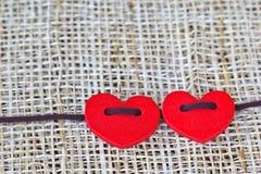Corazón de los pares Imágenes de archivo libres de regalías
