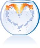 Corazón de los pescados libre illustration