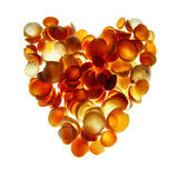 Corazón de los Seashells imagen de archivo libre de regalías